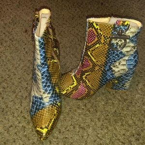 Multi Colored Booties